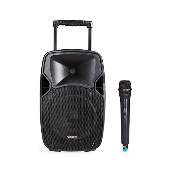 Fonestar malibu-110l karaoke portátil 100w bluetooth usb sd con micrófono y mando a distancia
