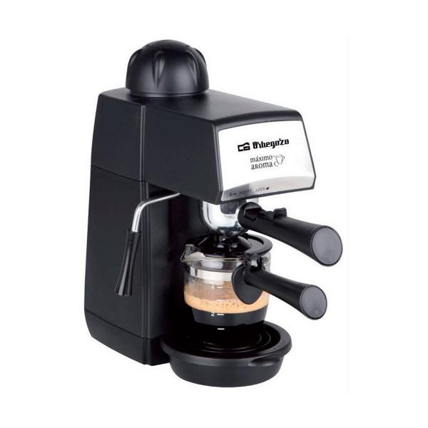 Orbegozo exp 4600 cafetera eléctrica a presión 870w 5 bar con jarra de cristal incluida