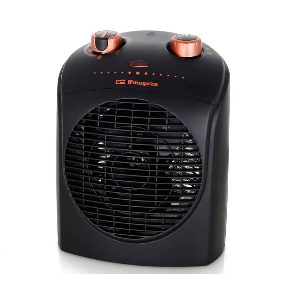 Orbegozo fh 5036 negro calefactor eléctrico 2200w termostato regulable 2 posiciones y ventilador