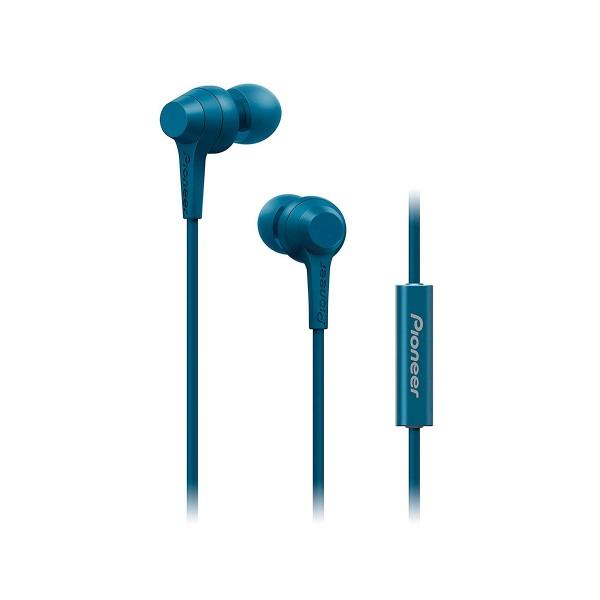 Pioneer se-c1t azul auriculares con micrófono de alta calidad