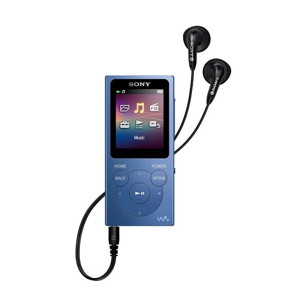 Sony nwe394l azul reproductor mp3 con pantalla de 1.77''