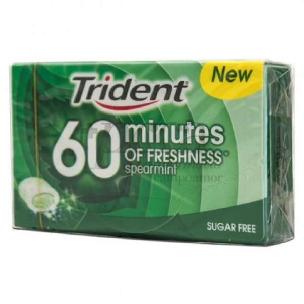 TRIDENT 60 MINUTES HIERBABUENA S/A