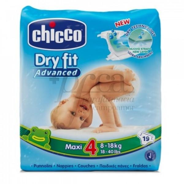 CHICCO PAÑALES DRYFIT T4 8-18KG 19U