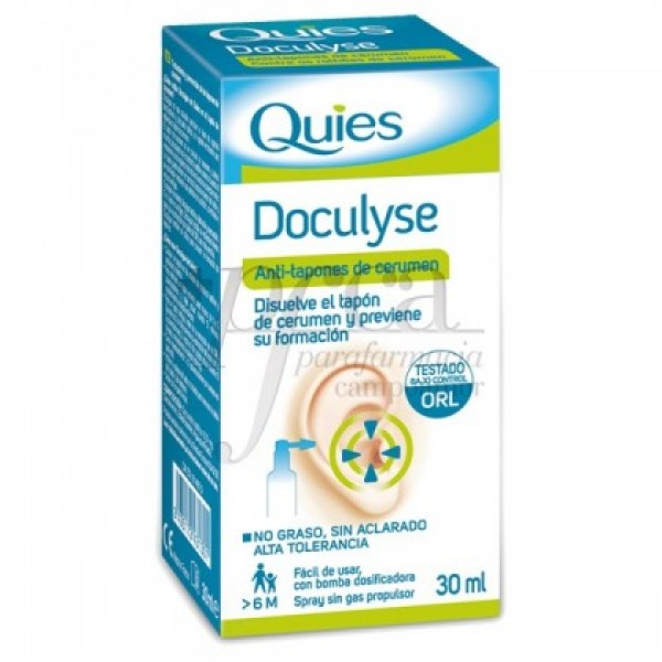 DOCULYSE SOLUCION TAPONES  30 ML