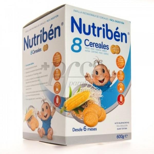 NUTRIBEN 8 CEREALES GALLETAS MARIA 600G