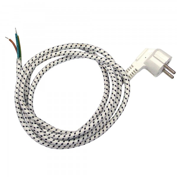 Cable plancha onlex c/schuko. 2m. 2x0,75