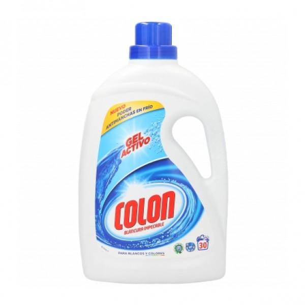 Colon gel detergente blancura impecable gel activo 28+ 3 dosis