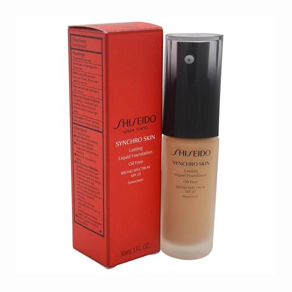 Shiseido synchro skin glow luminizing fluid foundation i60 30ml