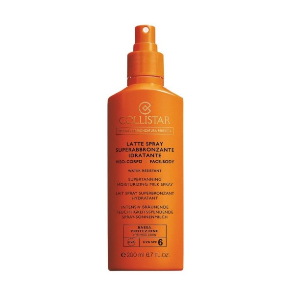 Collistar supertanning moisturizing milk spray spf6 200ml