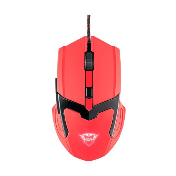 Trust gxt 101-sr spectra ratón rojo gaming mouse usb 2.0 / 6 botones / iluminación led cambiante / dpi max 4800 ppp