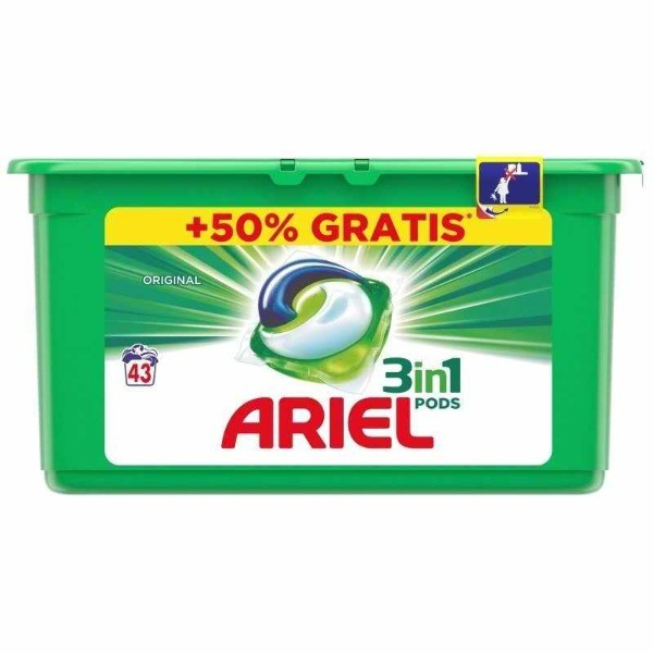 ARIEL detergente tabs verde 3en1 43 uni