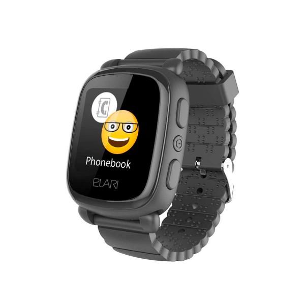 Elari kidphone 2 negro reloj inteligente smartwatch para niños con localización gps y botón sos exclusivo