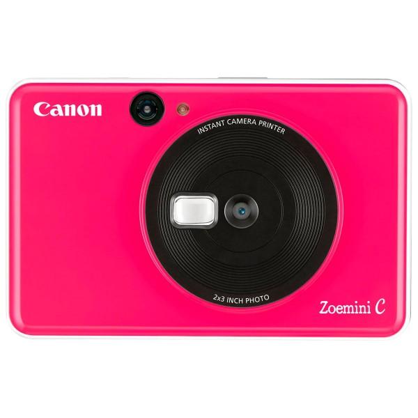 Canon zoemini c rosa chicle cámara 5mpx impresora instantánea 5x7.6cm