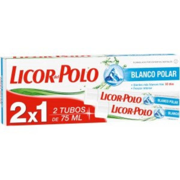 Licor del Polo dentí­frico Blanco Polar, 75 ml ,  2x1