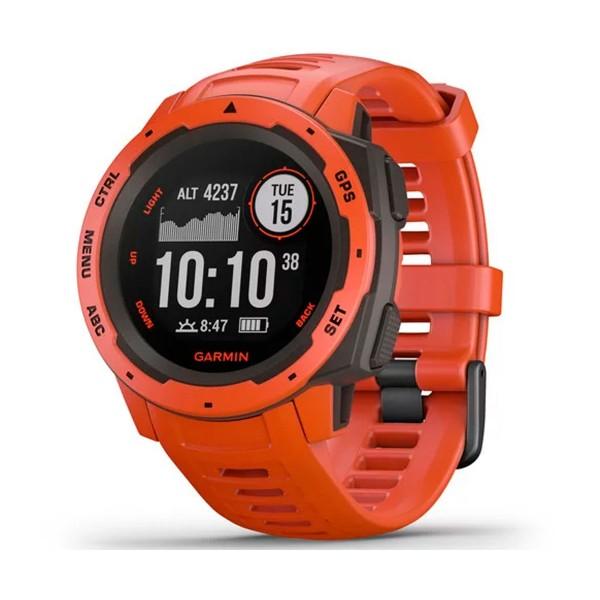 Garmin instinct flame red 45mm smartwatch resistente gnss gps ant+ bluetooth