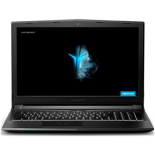 Medion erazer p6705 negro portátil gaming 15.6'' fullhd i7-8750h 4.1ghz gtx1050 256gb ssd 8gb ram win10 home