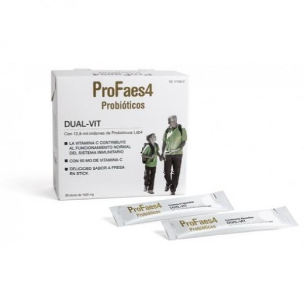PROFAES4 DUAL-VIT 30 STICKS SABOR FRESA