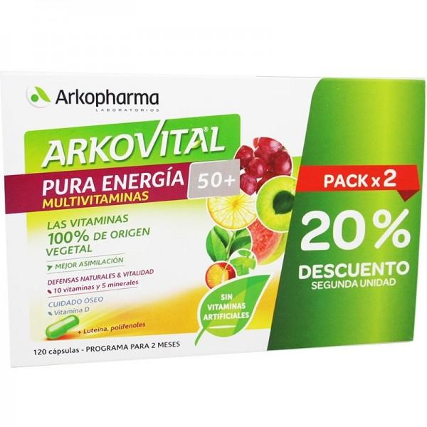 ARKOVITAL PURA ENERGIA +50 2X60CAP PROMO