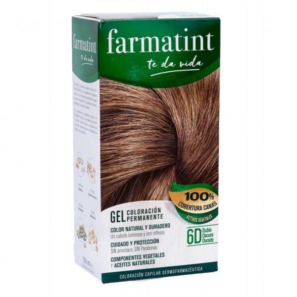 FARMATINT GEL 6D RUBIO OSCURO DORADO 150ML